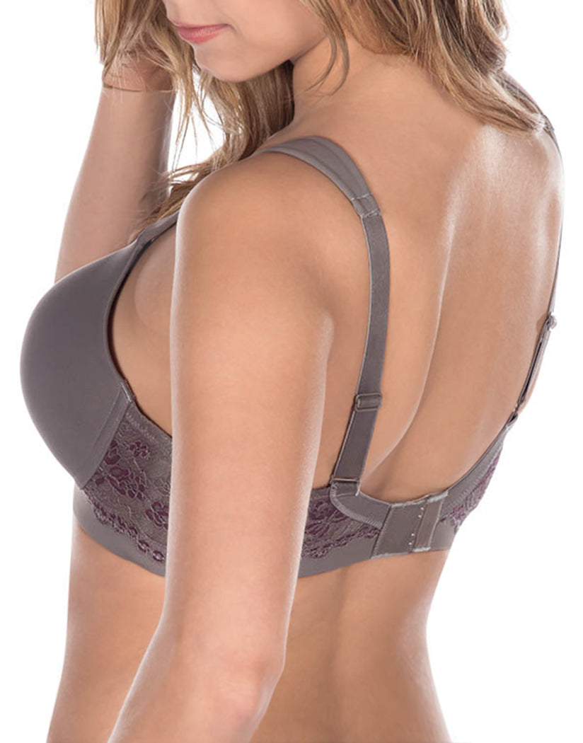 Storm Grey Back Leading Lady Brigitte Lace Underwire Padded Comfort Bra Storm Grey 5214