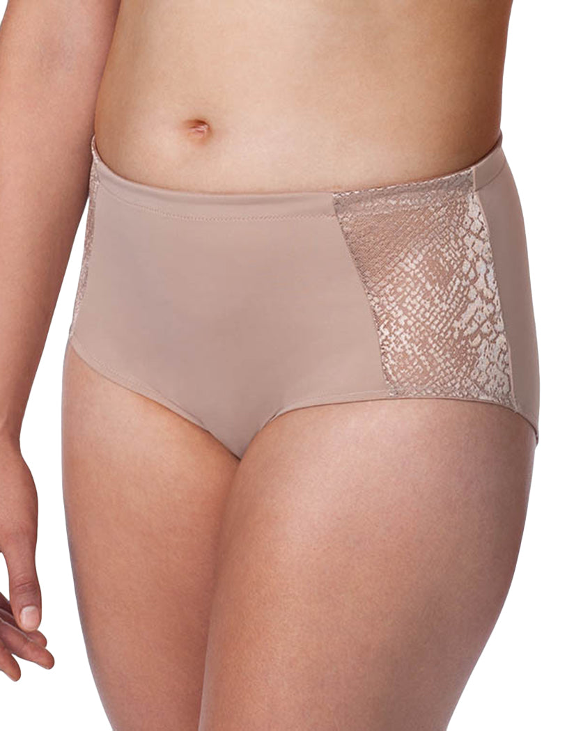 Warm Taupe Front Leading Lady Luxe Body Panty Briefs 5810