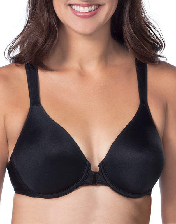 Black Front Leading Lady Brigitte Racerback Seamless Front Closure Underwire Bra 5415