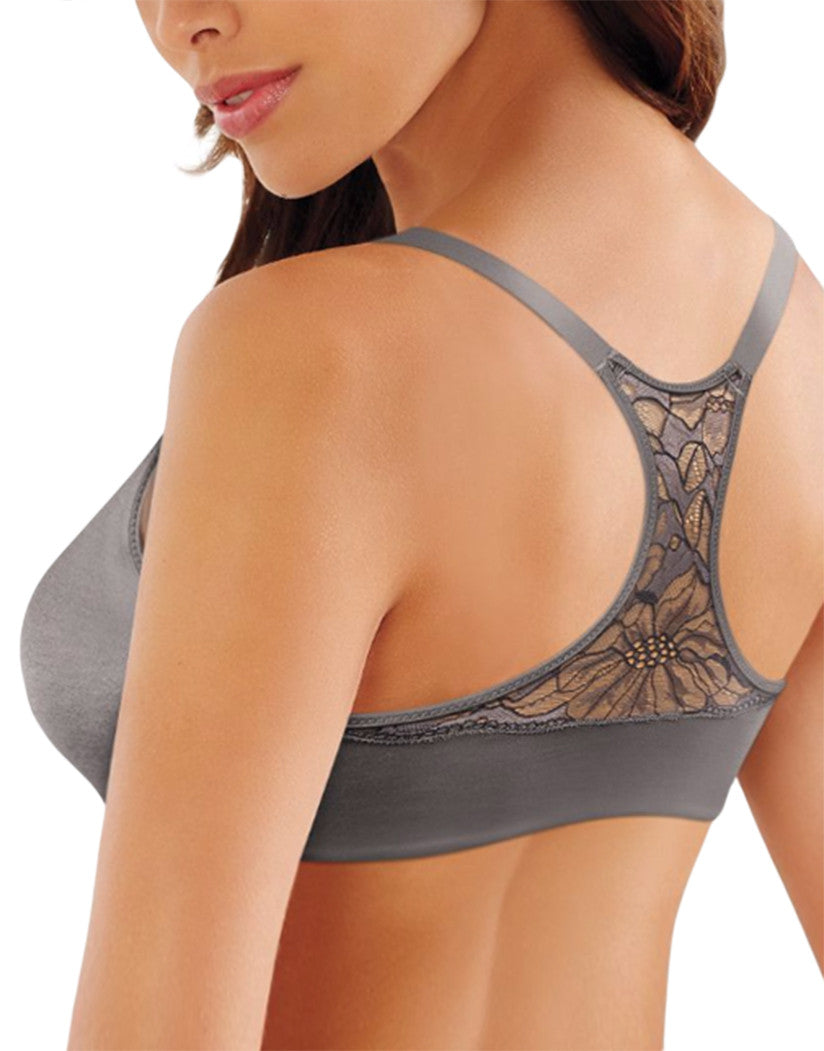 Steel Grey/Onyx Front Lilyette Lift and Smooth Front Close Bra