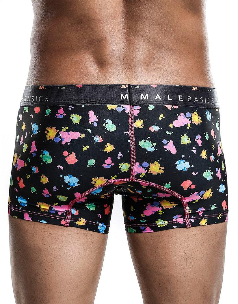 Black Splash Back Malebasics Men's Hipster Trunk MB201