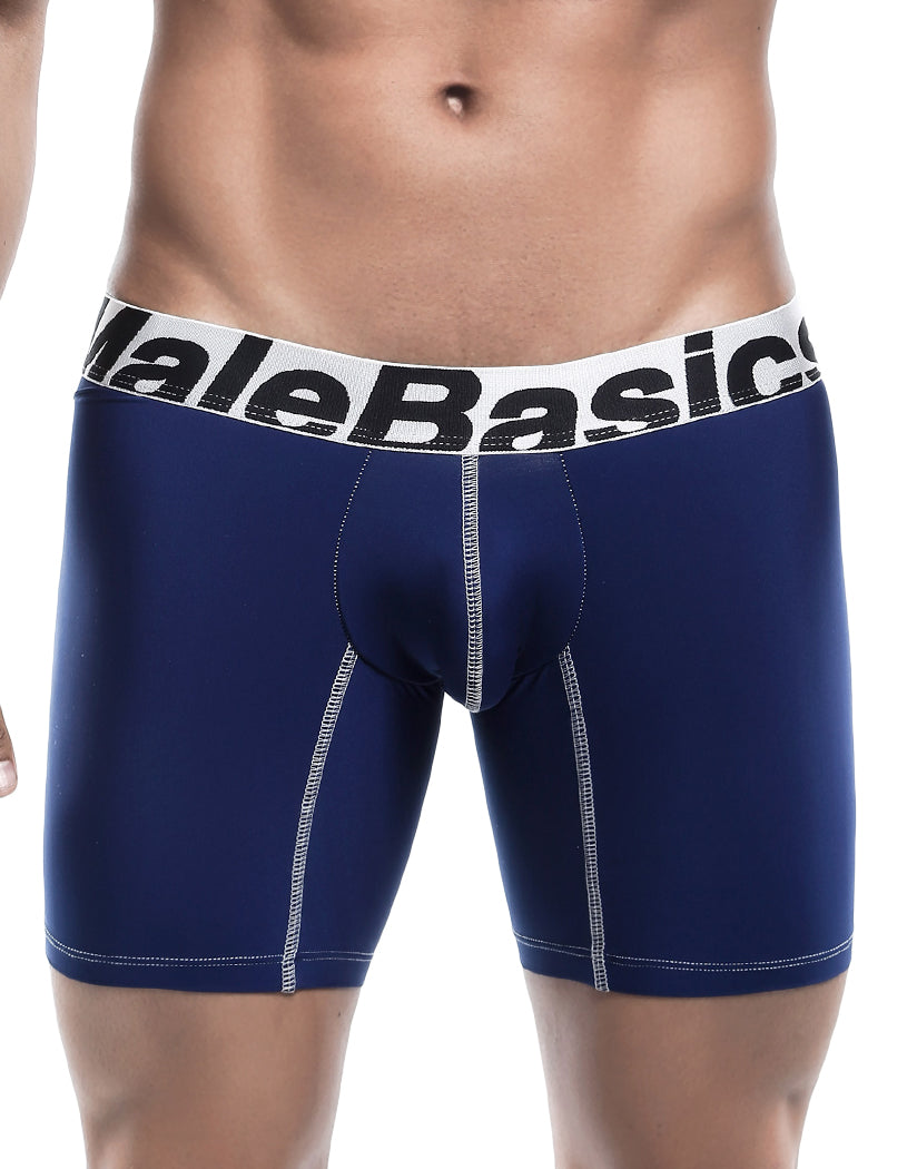 Navy Front Malebasics Microfiber Performance Boxer Brief MBM02