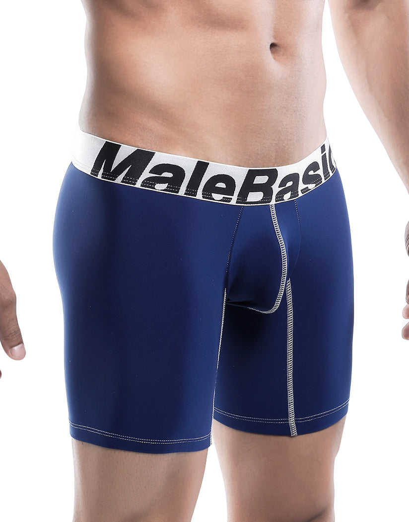 Navy Side Malebasics Microfiber Performance Boxer Brief MBM02