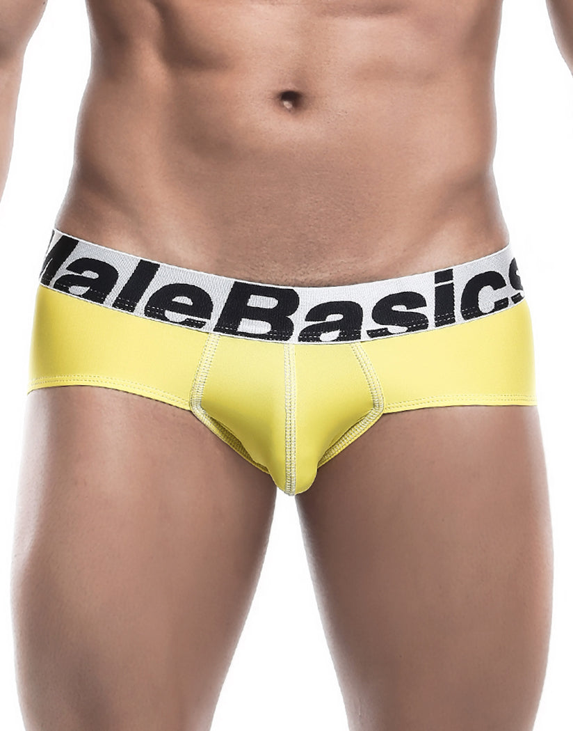 Yellow Front Malebasics Microfiber Performance Brief MBM03