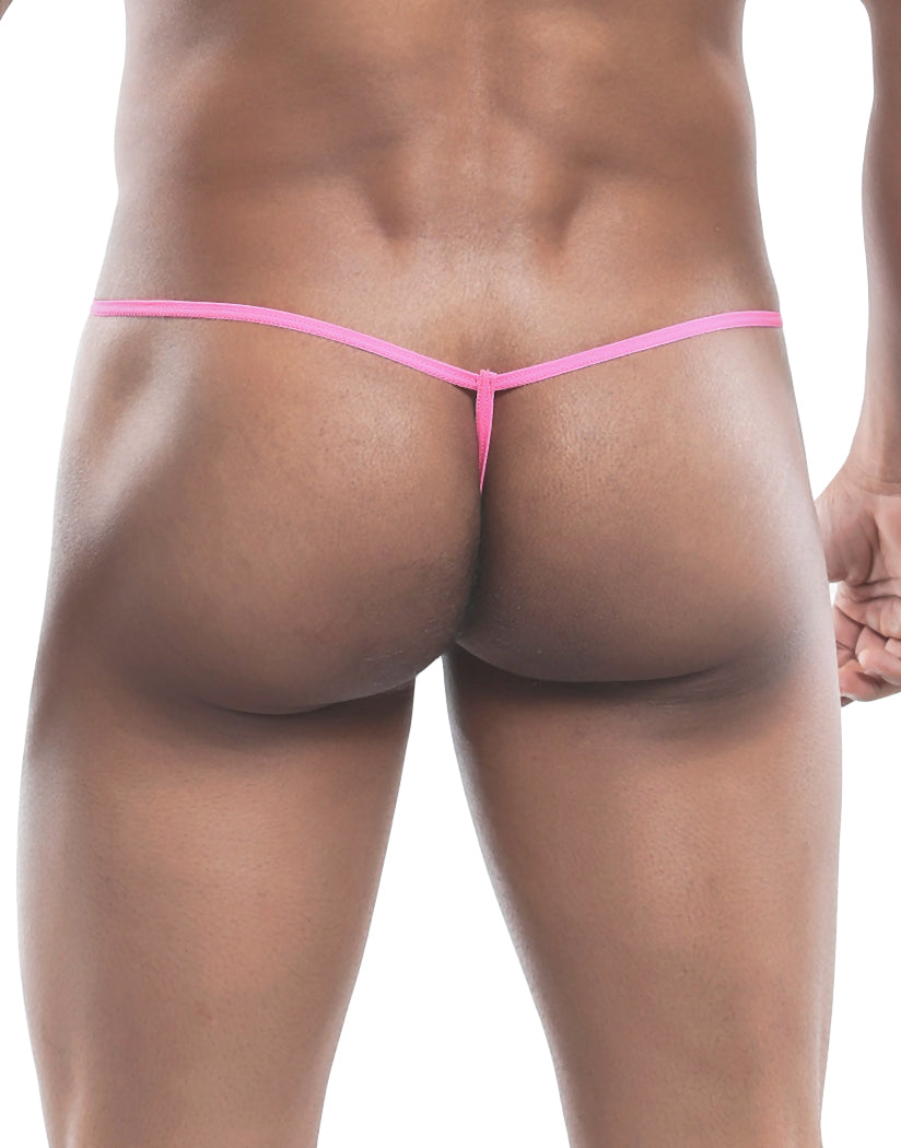 Hot Pink Back MOB Tulle G-String