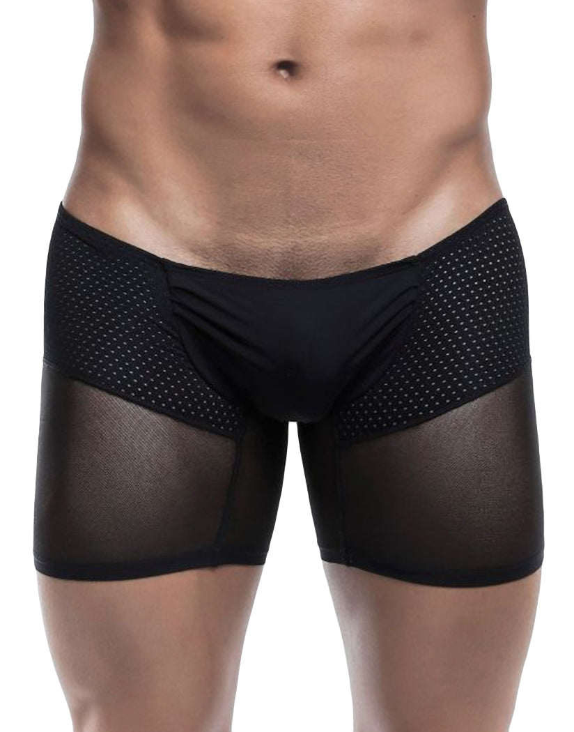 Black Mesh Front MOB Men's Micromesh Pouch Boxer Brief MBL37