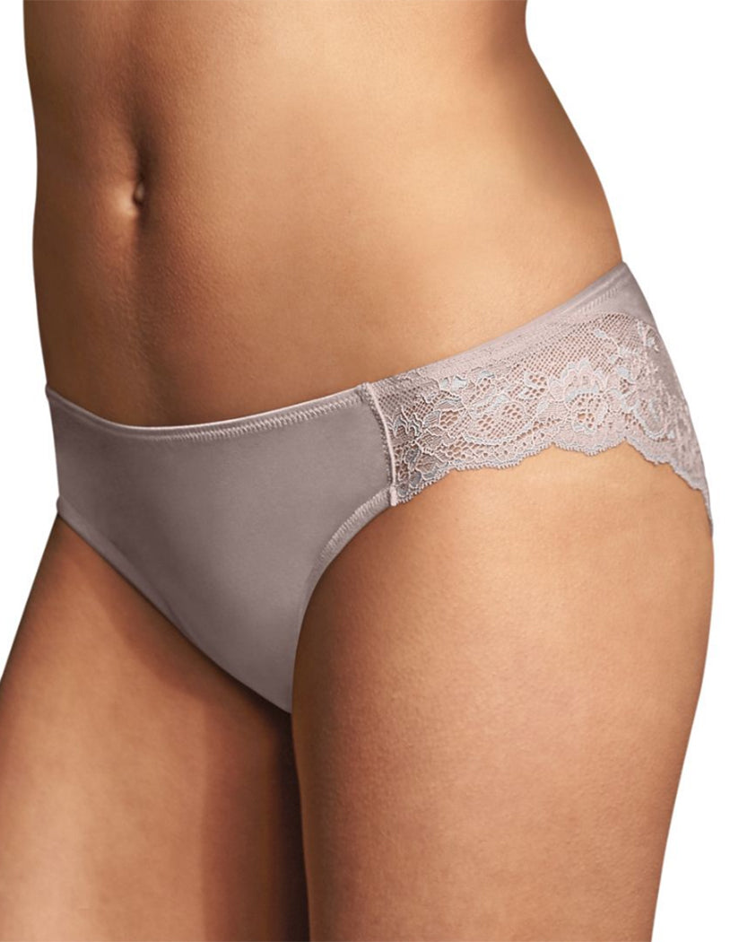 Evening Blush w/Silver Front Maidenform Comfort Devotion Lace Back Tanga Thong