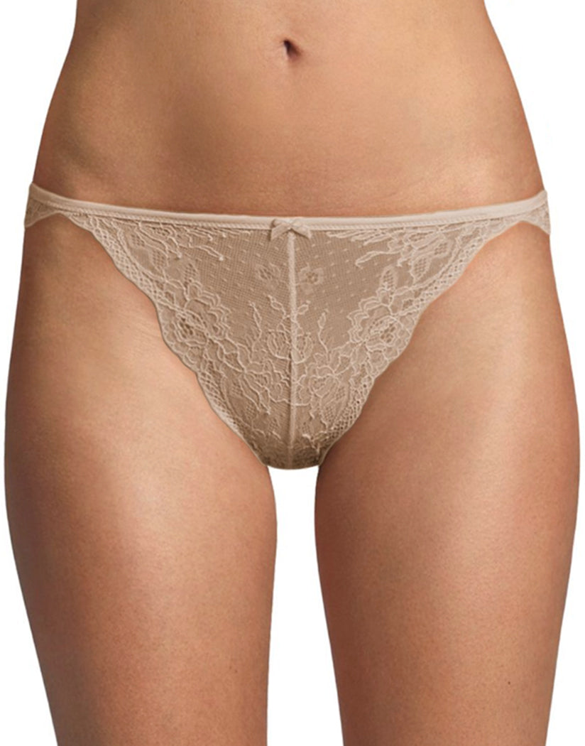 Latte Lift Front Maidenform Lace Tanga Bikini DM0008