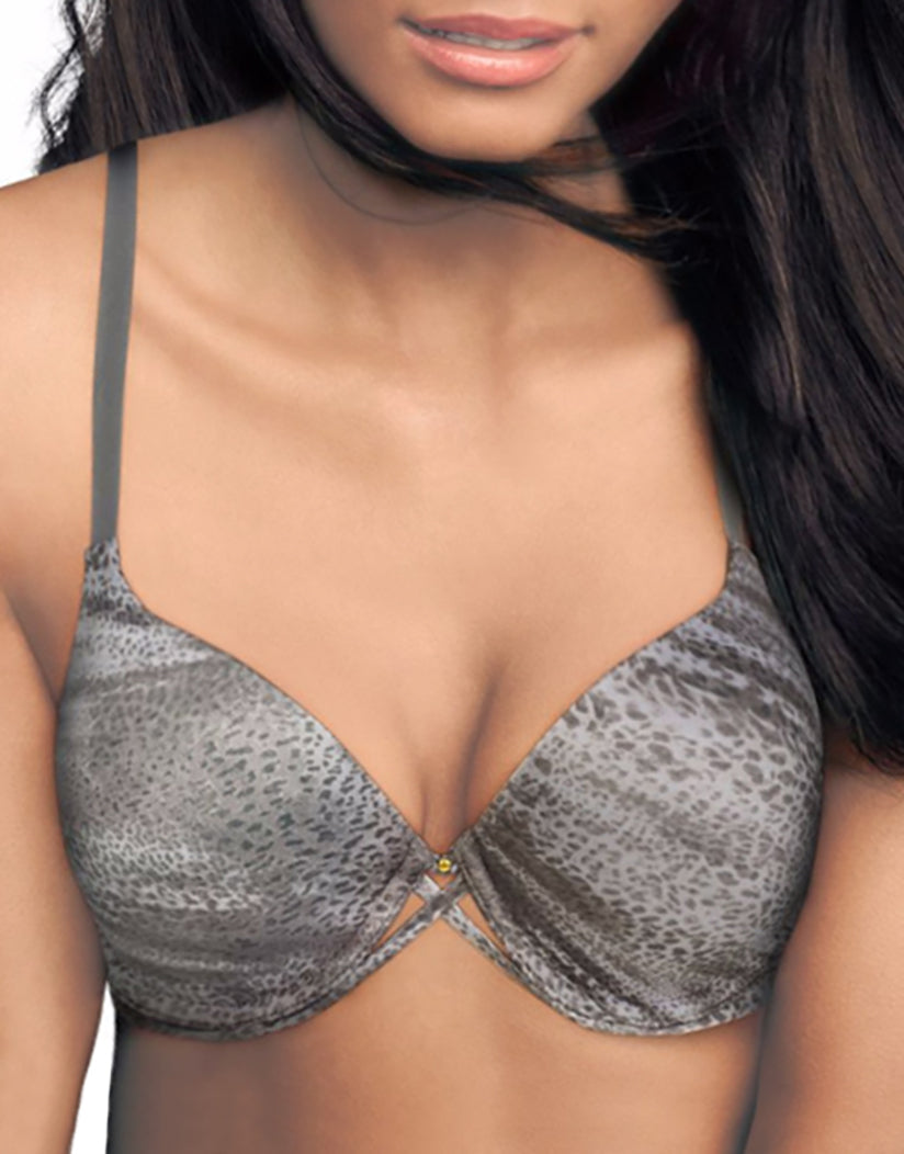 Draped Leopard Print Front Love the Lift Custom Lift Extra Coverage Push-Up Bra