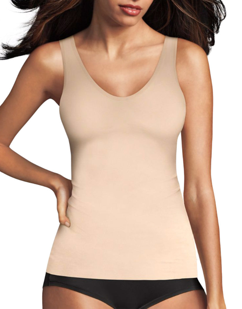Paris Nude Front Maidenform Sleek Smoothers 2-Way Tank 2584