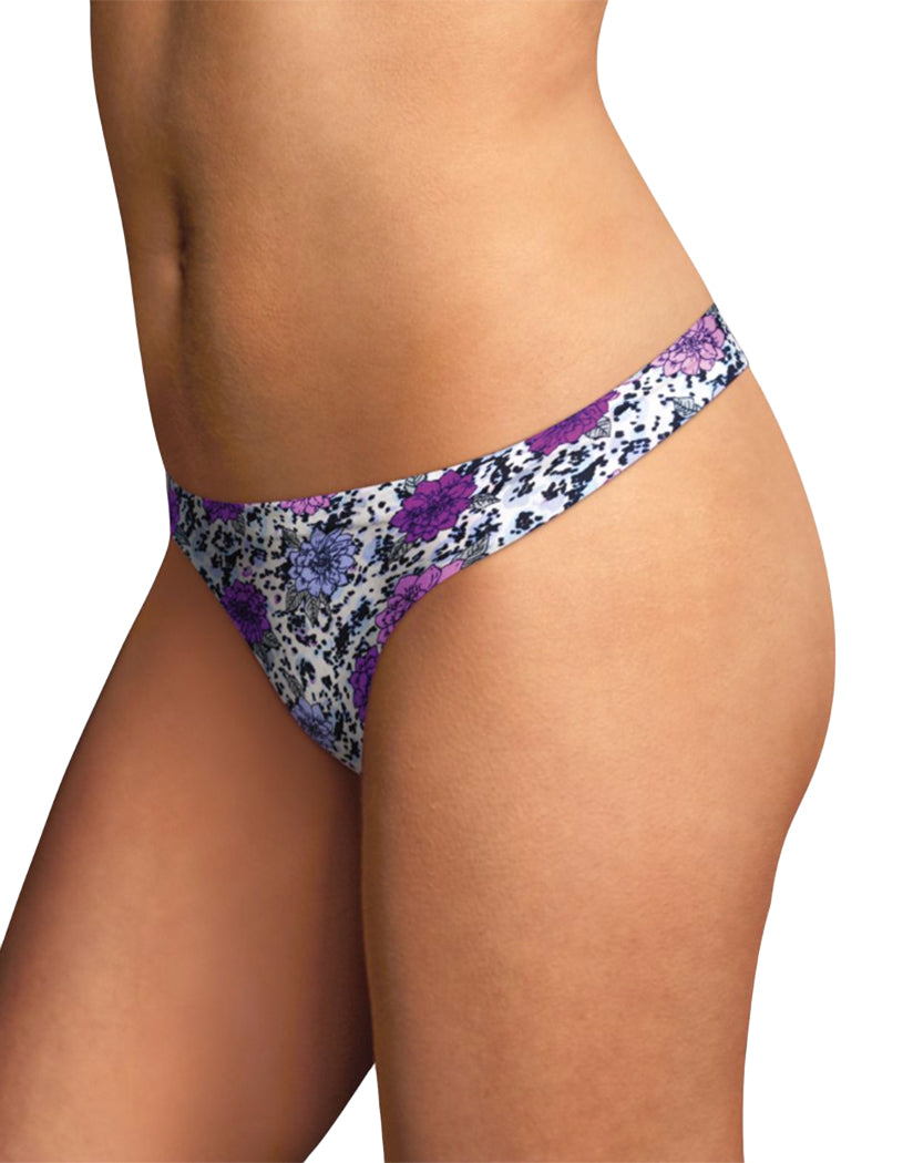 Animal Floral Print Front Maidenform Comfort Devotion Thong