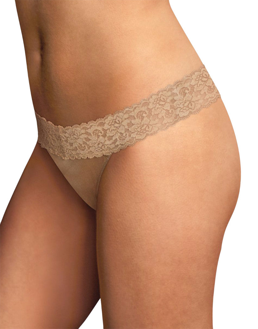 Maidenform Dream Thong with Lace Body Beige L/XL 014671271355