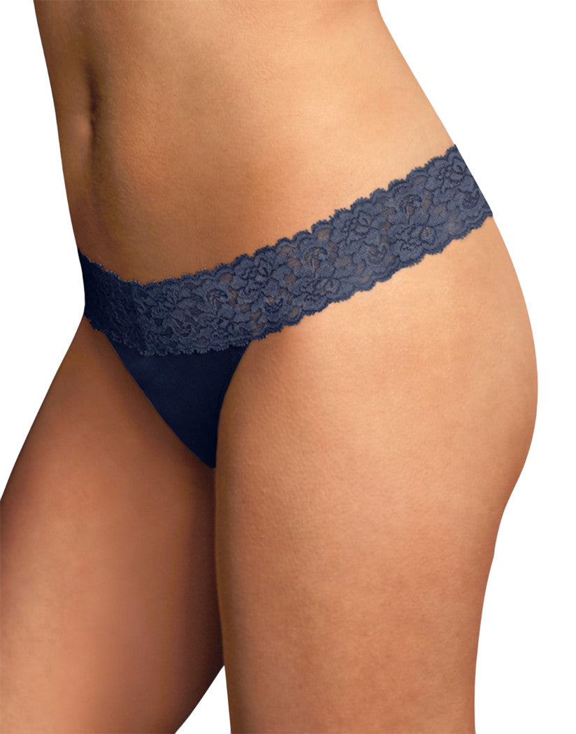 Navy Front Maidenform® Dream® Thong with Lace