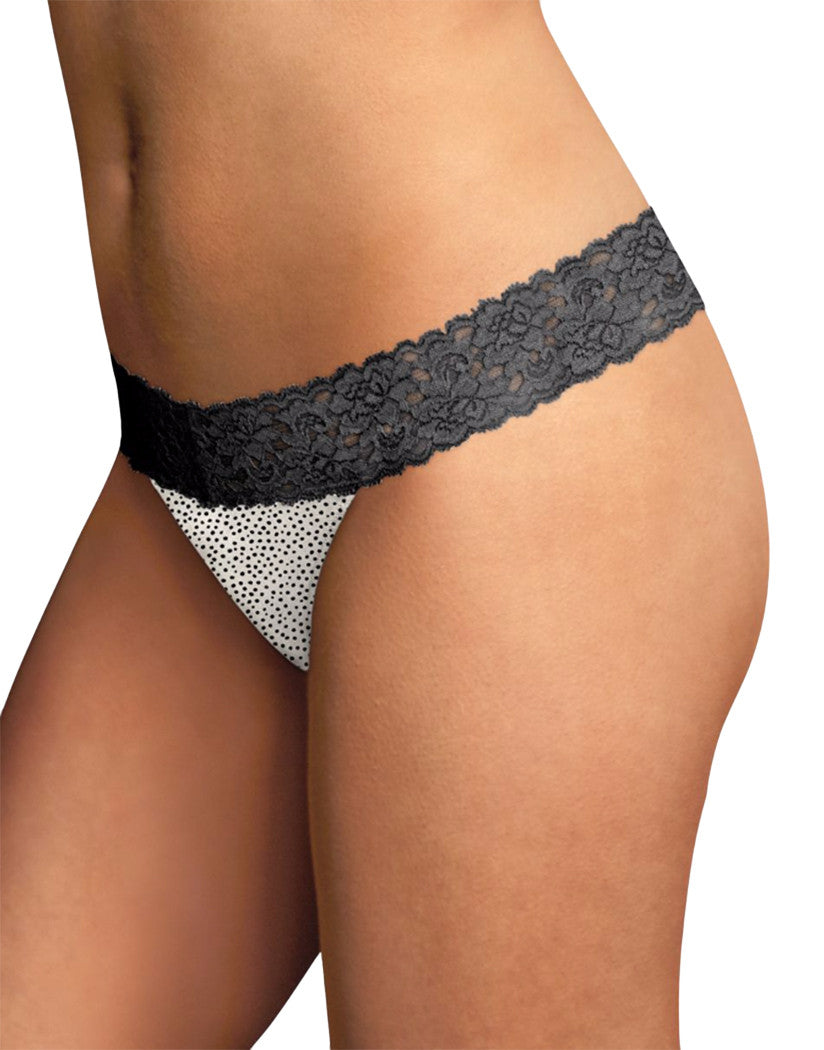 Twinkle Dot Front Maidenform® Dream® Thong with Lace