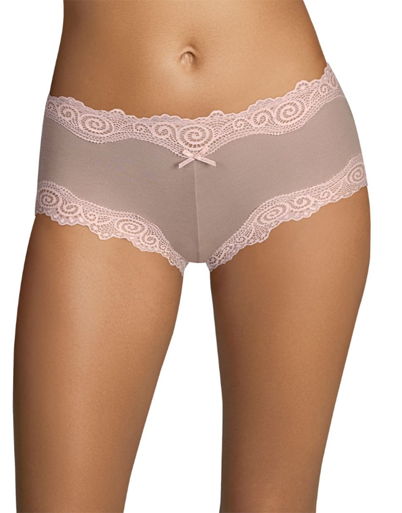 Evening Blush/Pink Pirouette Front Maidenform Cheeky Scalloped Lace Hipster 40837