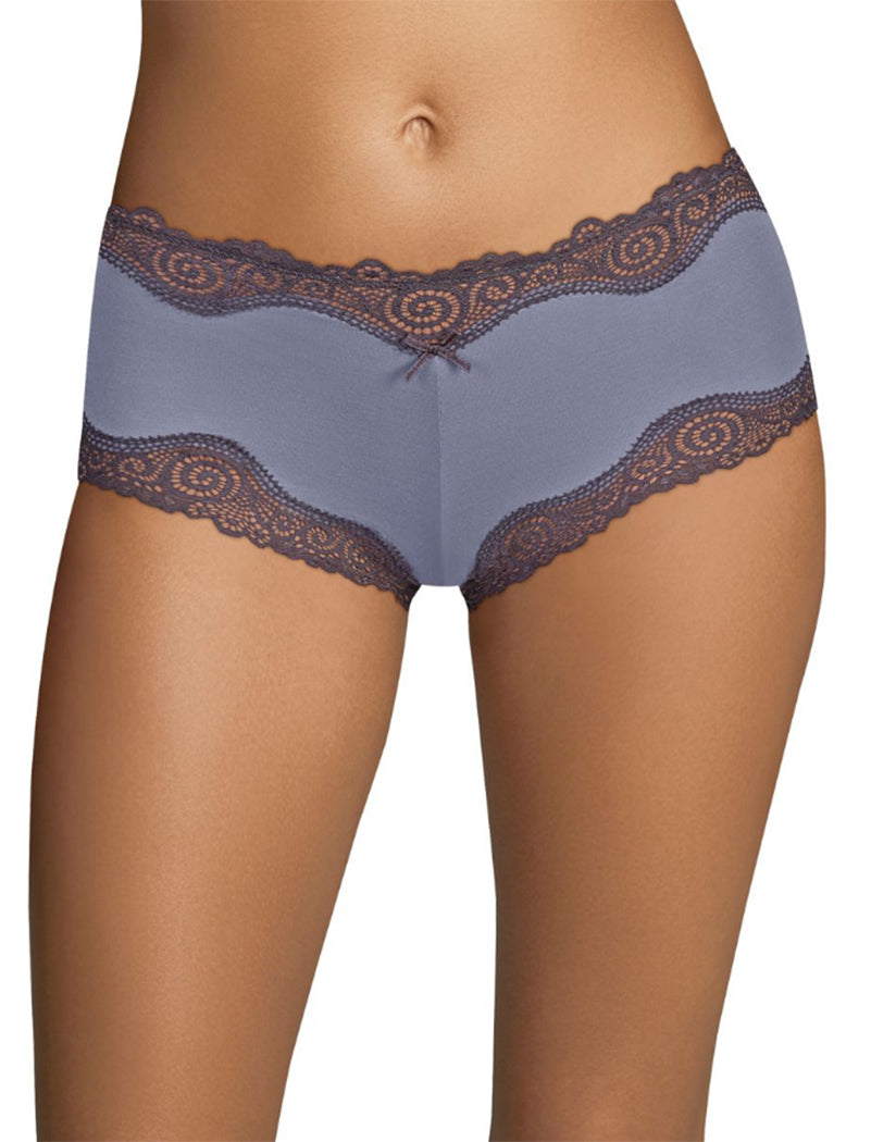 Plum Grey/Rising Smoke Front Maidenform Cheeky Scalloped Lace Hipster 40837