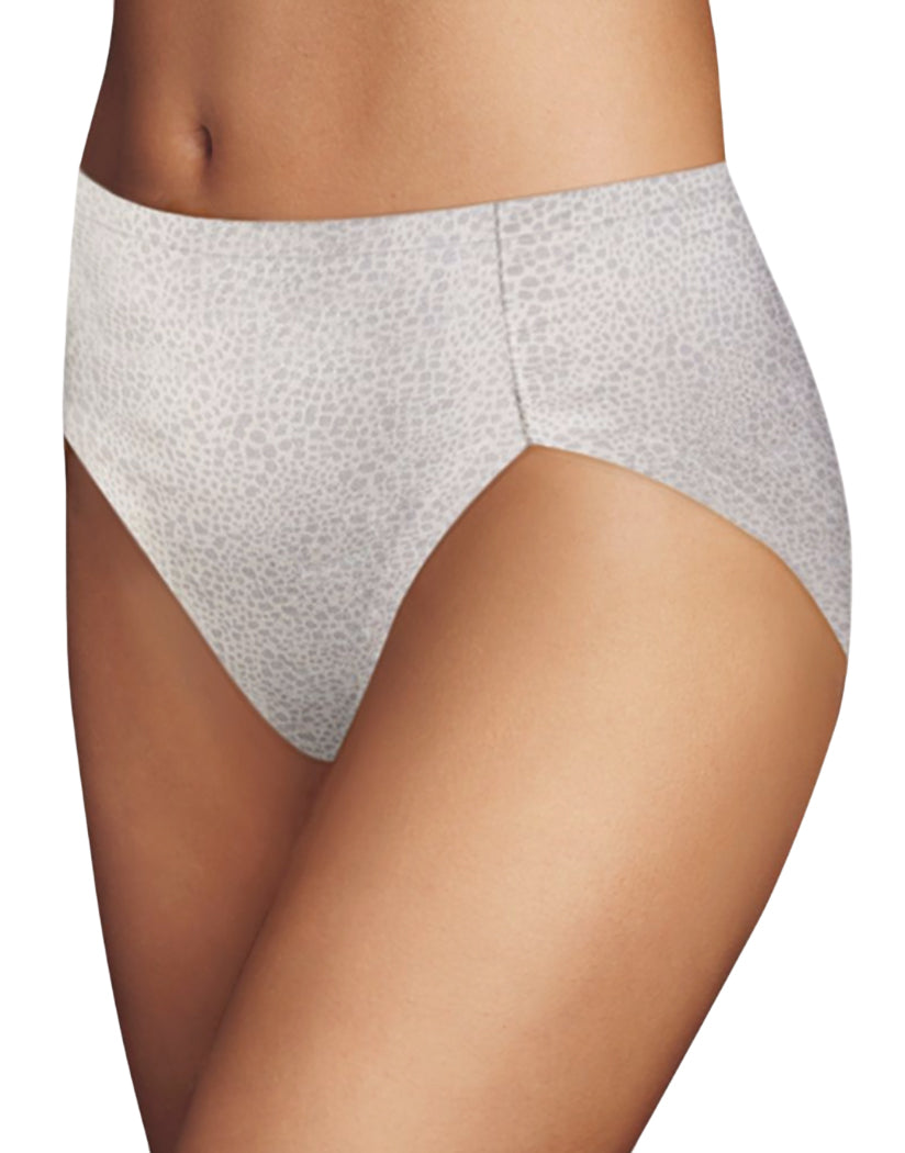 Silver Lynx/Ivory Front Maidenform Comfort Devotion High Leg Brief CDHLBF