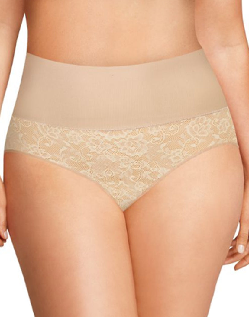 Nude 1/Transparent Lace Front Maidenform Tame Your Tummy Shaping Brief DM0055