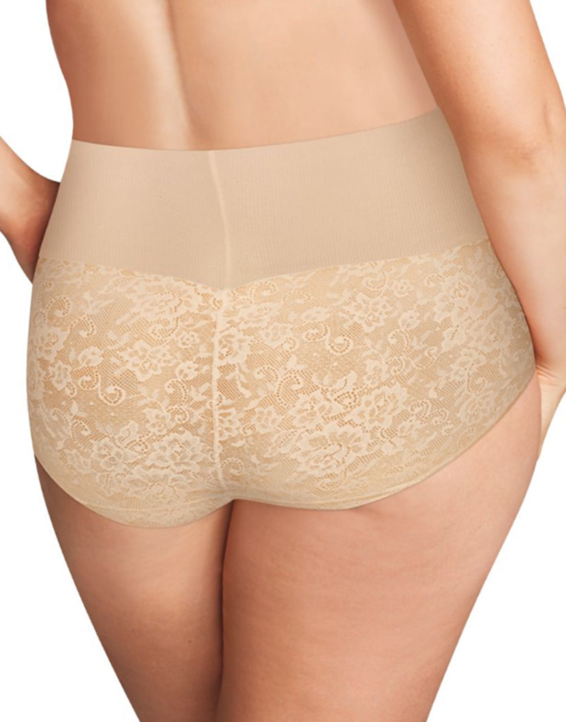 Nude 1/Transparent Lace Back Maidenform Tame Your Tummy Shaping Brief DM0055