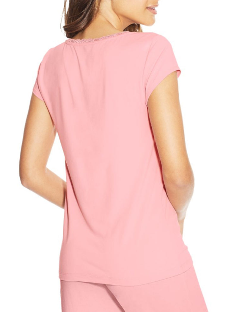 Pink Nectar Back Maidenform Lace Trim Cap Sleeve Tee MFW7100