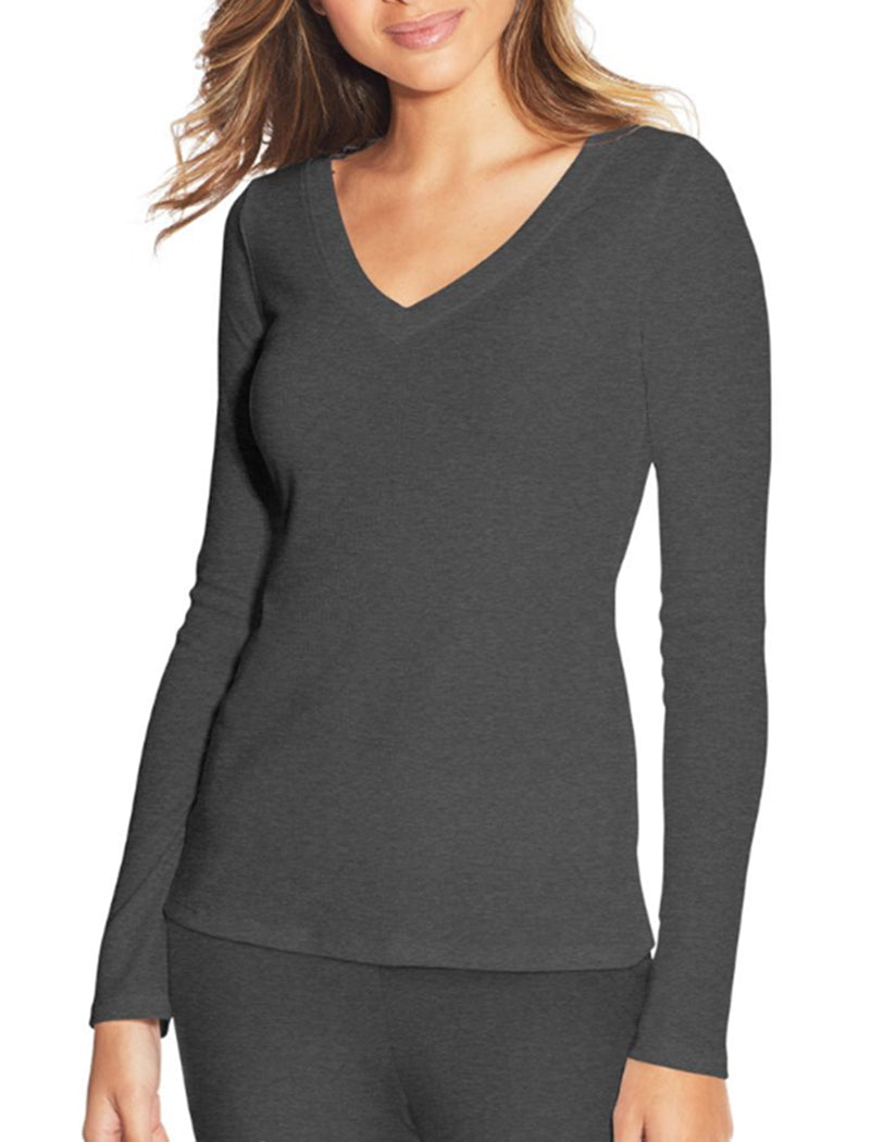 Charcoal Heather Front Maidenform Lounge Top MFW7131