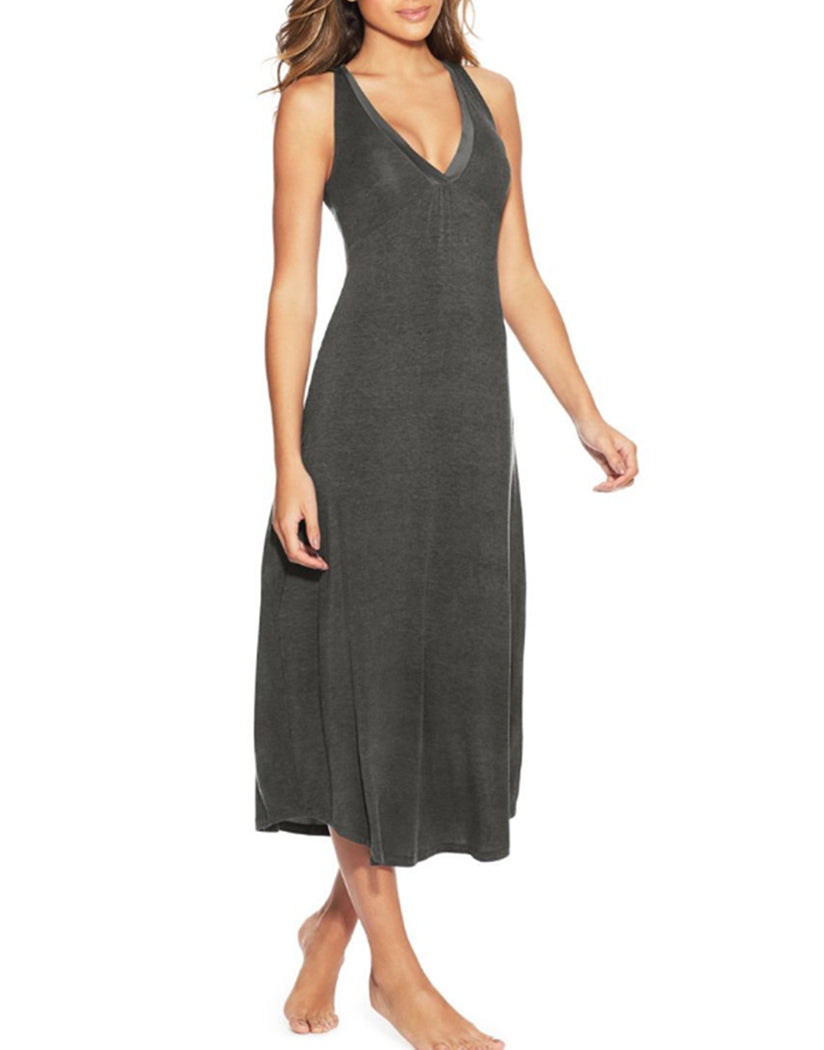 Charcoal Front Maidenform V-Neck Maxi Gown MFW7260