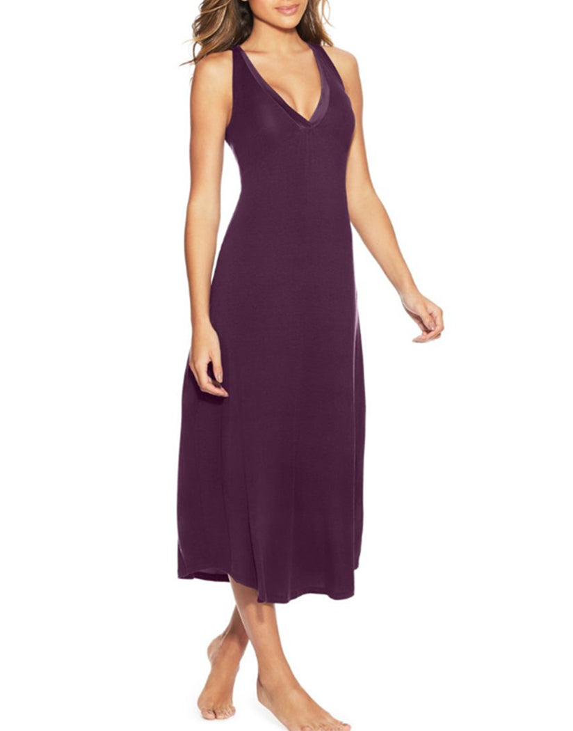 Potent Purple Front Maidenform V-Neck Maxi Gown MFW7260