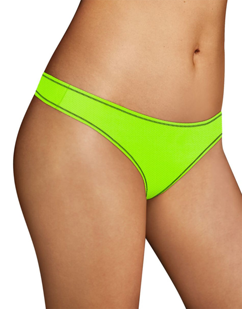 Reflector Green/Black Front Maidenform Sport Thong MSPTHG