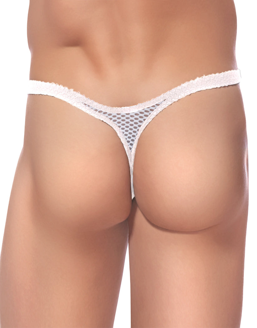 White Back Male Power Stretch Net Bong Thong