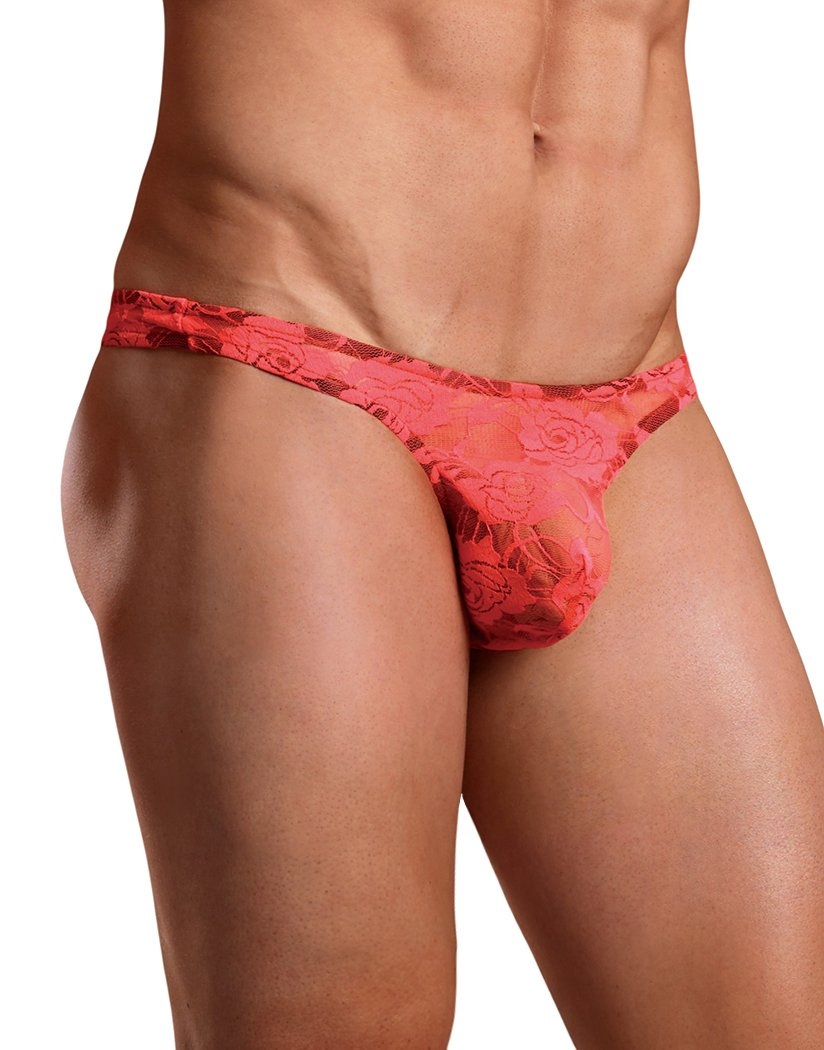 Coral Front Male Power Neon Lace Bong Thong 442-194