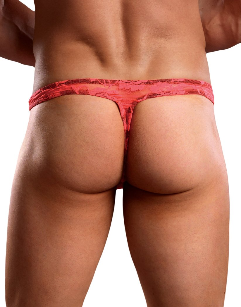 Coral Back Male Power Neon Lace Bong Thong 442-194