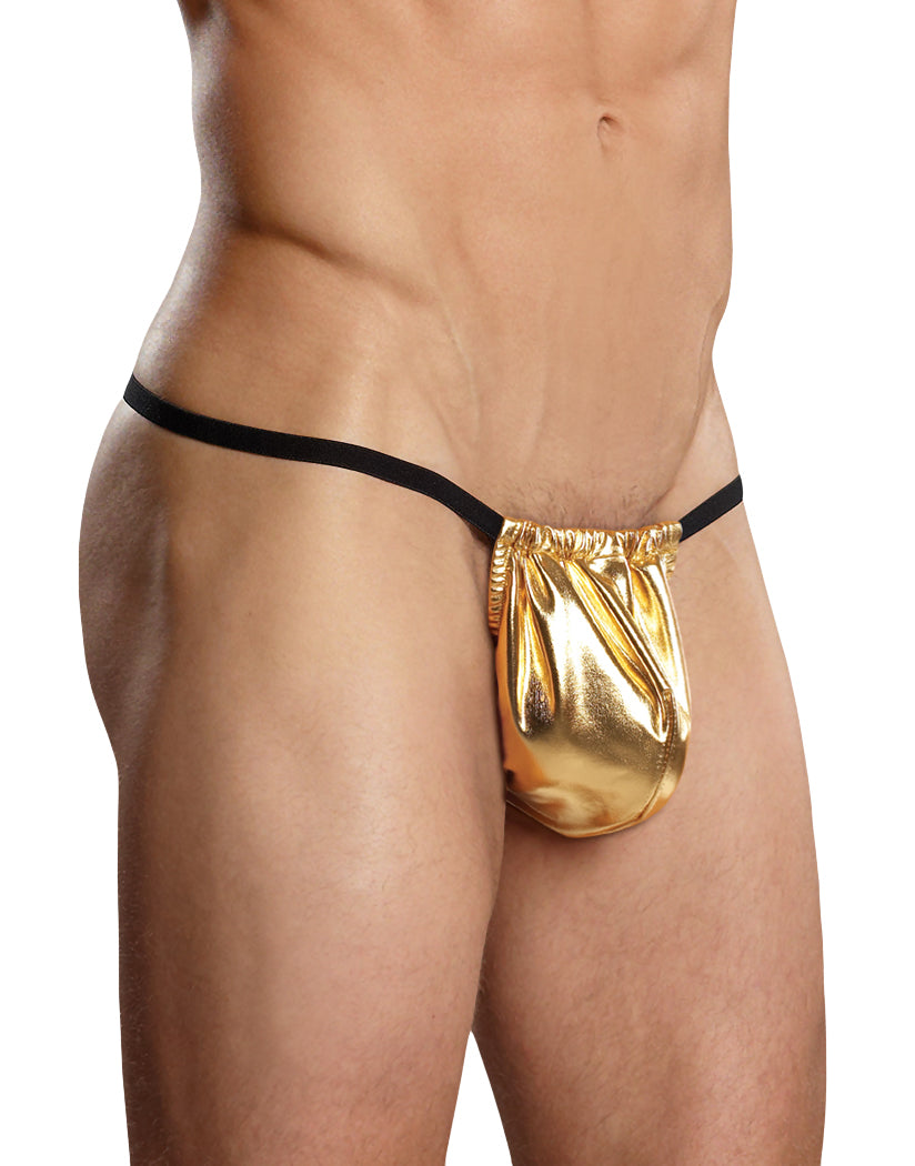 Gold Male Power Heavy Metal Posing Strap G-String 450-07