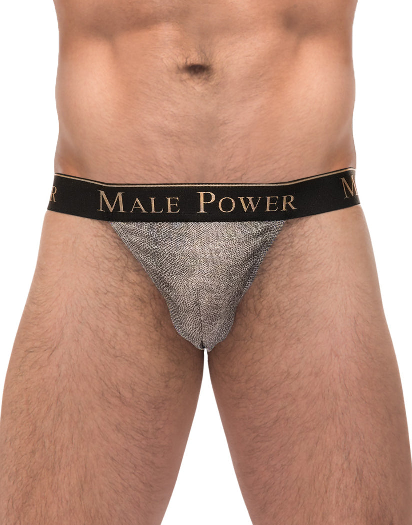 Grey Front Male Power Viper G-String 454-248
