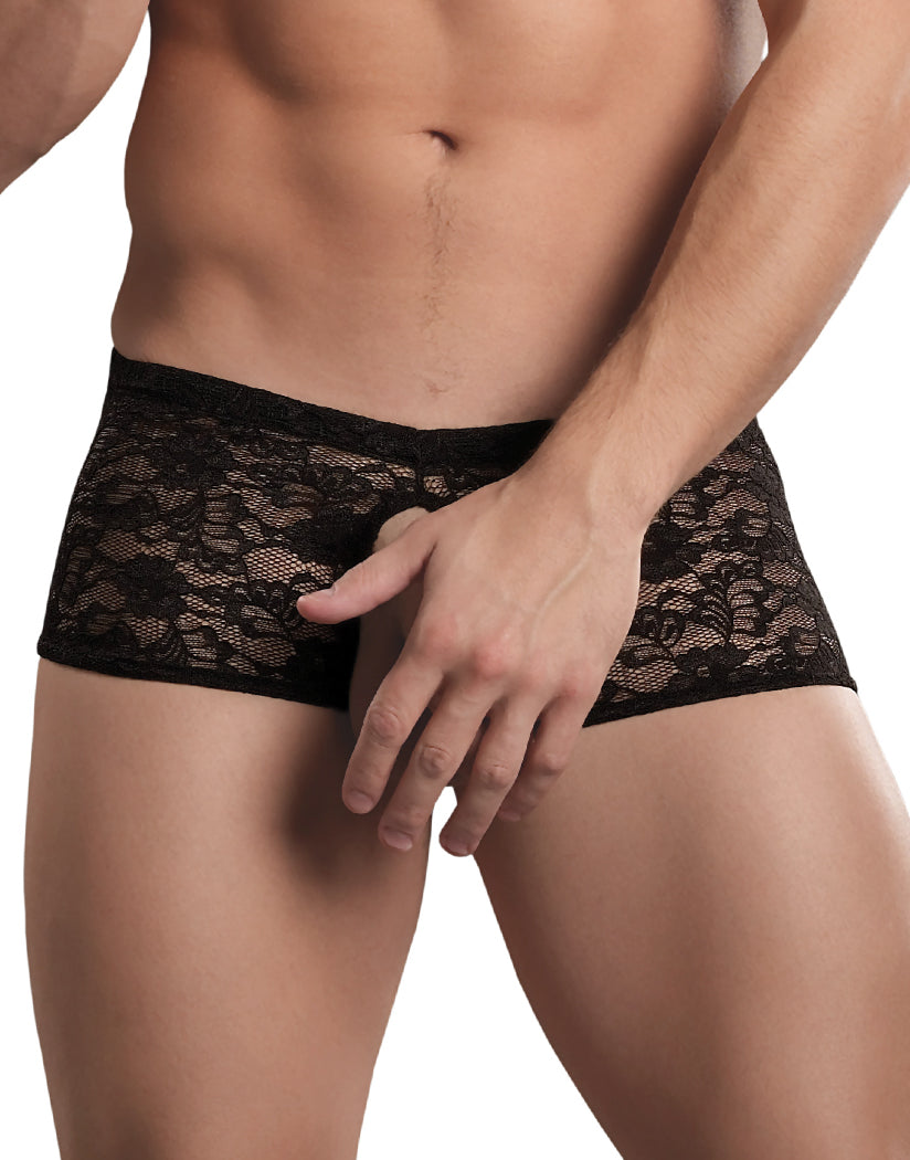 Black Front Male Power Double Pleasure Stretch Lace 468-162