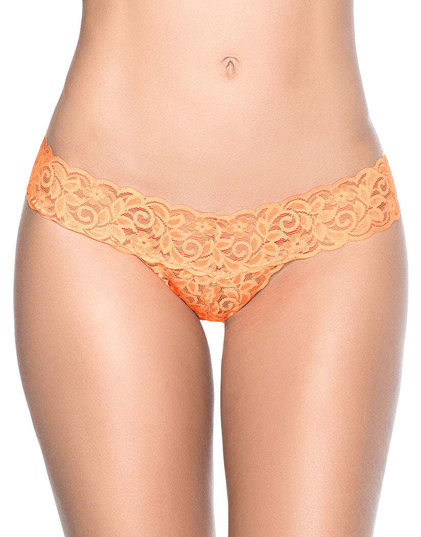 8492c27a26a Orange Front Mapale Lace Essentials All Lace Thong 94