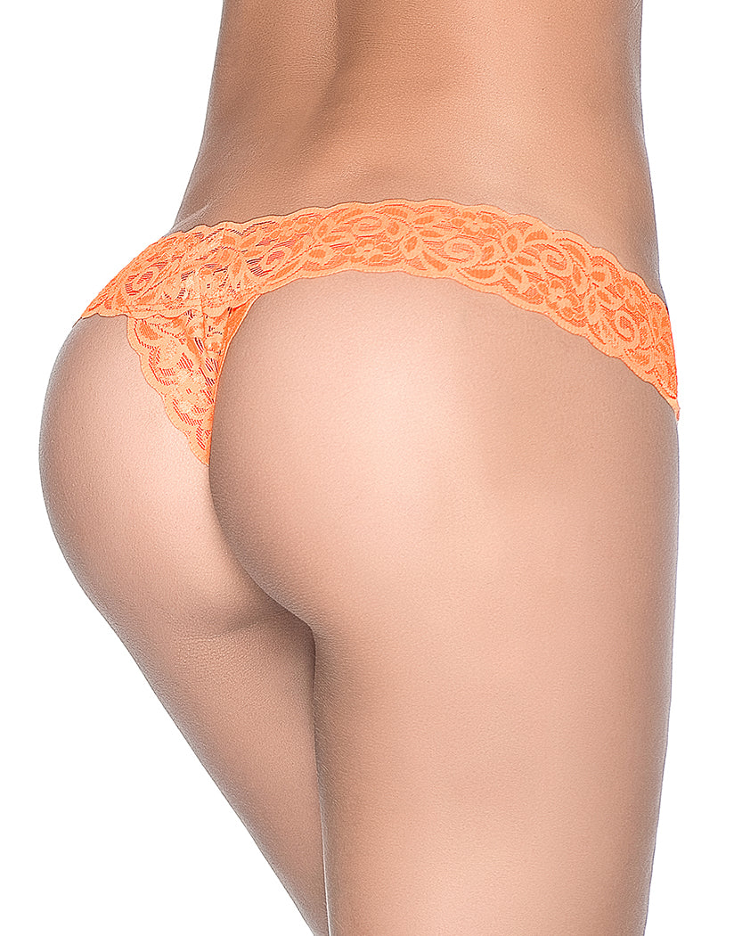 2a4ef026313 Orange Back Mapale Lace Essentials All Lace Thong 94
