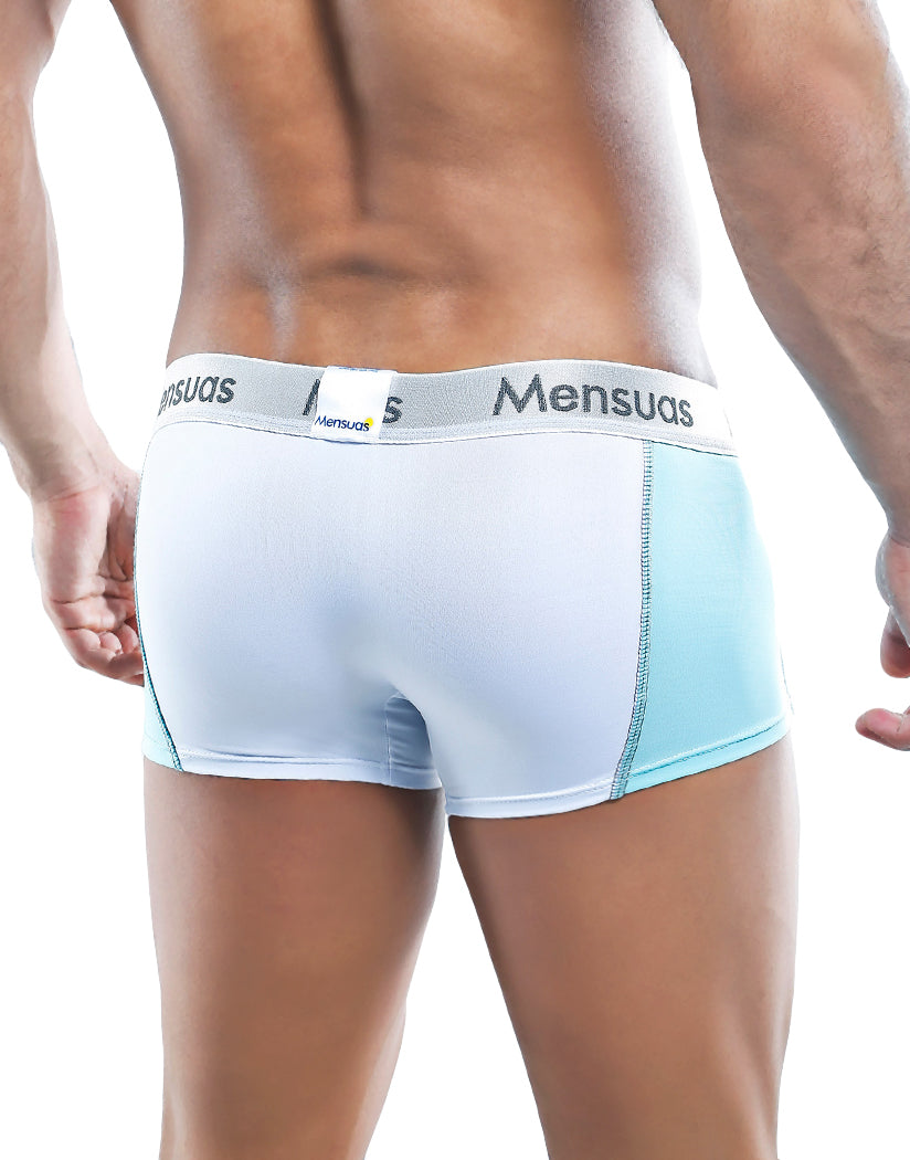 White/Blue Back Mensuas Boxer Trunk