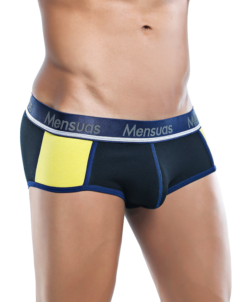 Black/Yellow Front Mensuas Brief