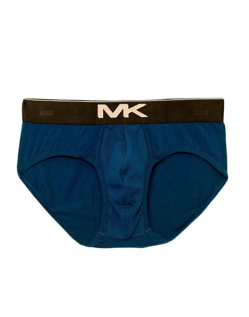 Pacific Blue Front Michael Kors Hybrid Lo Rise Hero Brief Pacific Blue F81L001341