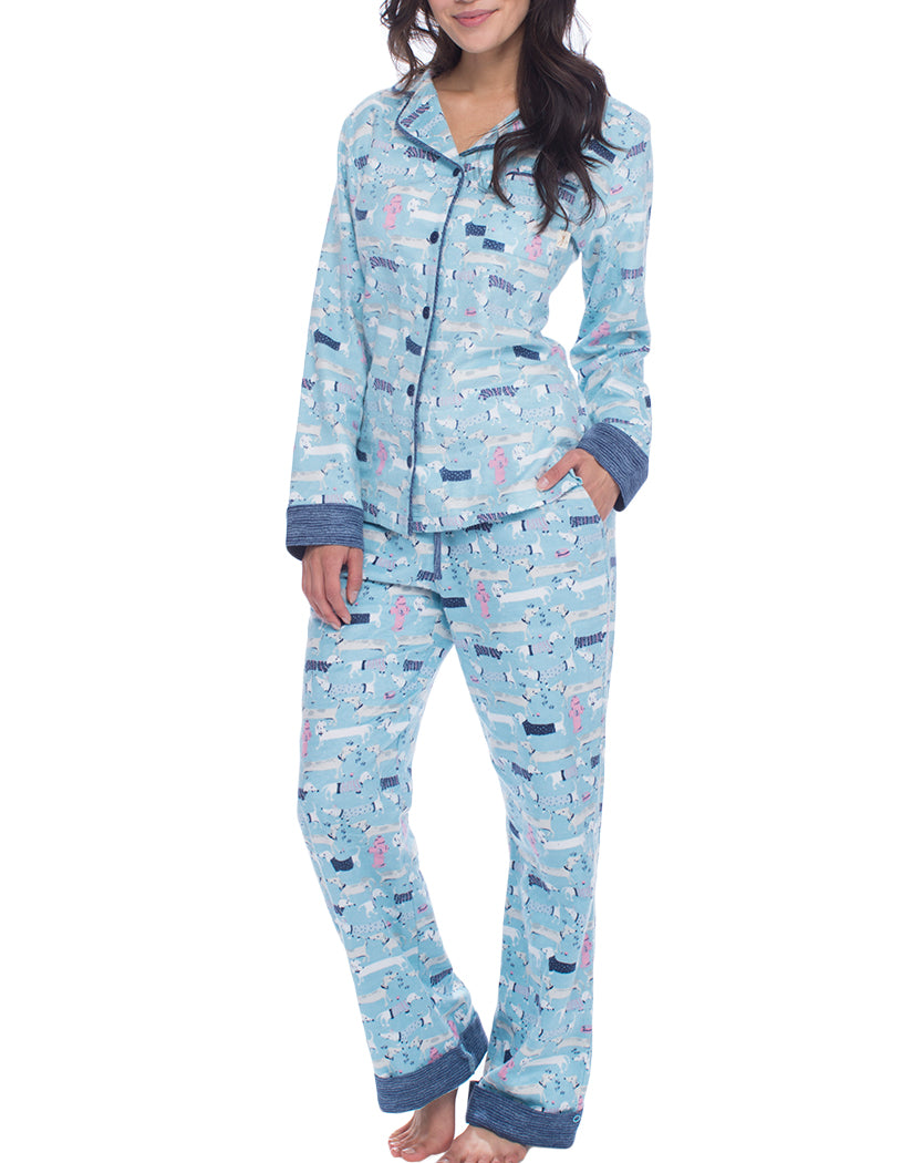 Sweater Dogs Front Flannel PJ Set