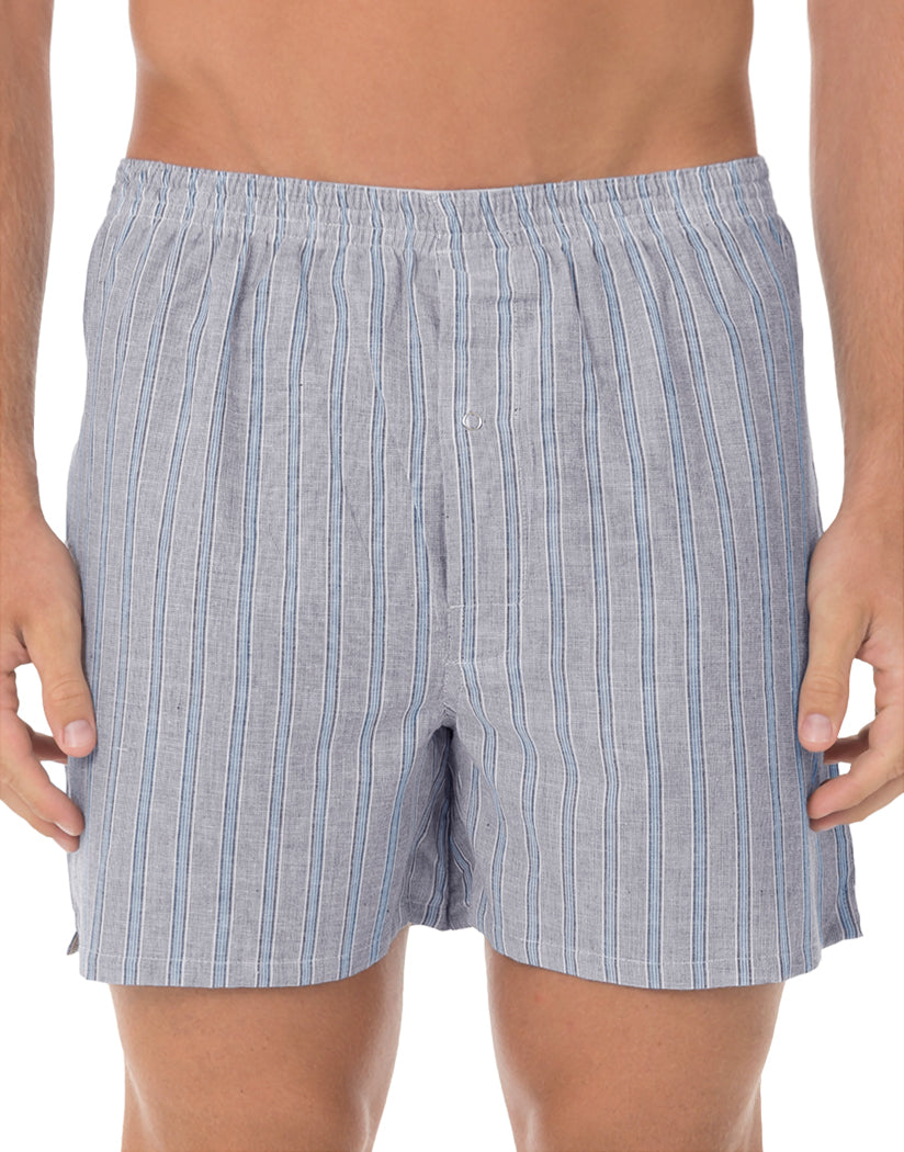 Assorted Blue Front Munsingwear Men's Assorted Broad Cloth Boxer Short 3-Pack KNOMW572CB
