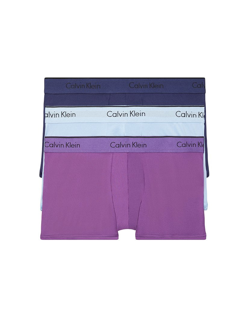 Horoscope/Verbena/Blue Cantrell Front Calvin Klein Micro Stretch 3 Pack Low Rise Trunk NB1289