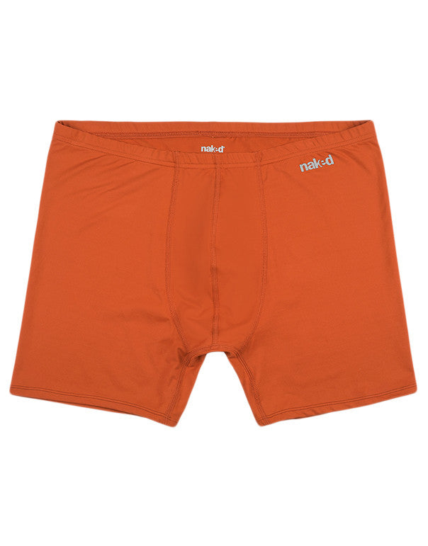 Burnt Orange Other Naked Active Microfiber Boxer Brief