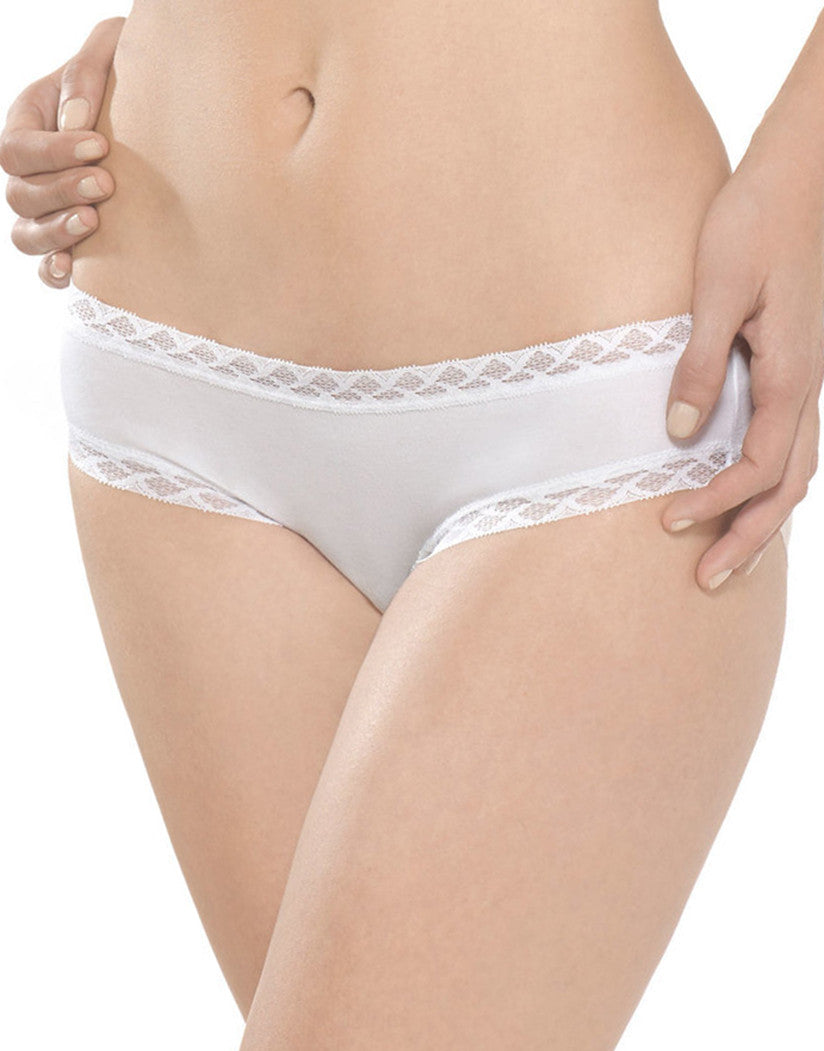 White Front Natori Cotton Bliss Girl Brief - 156058