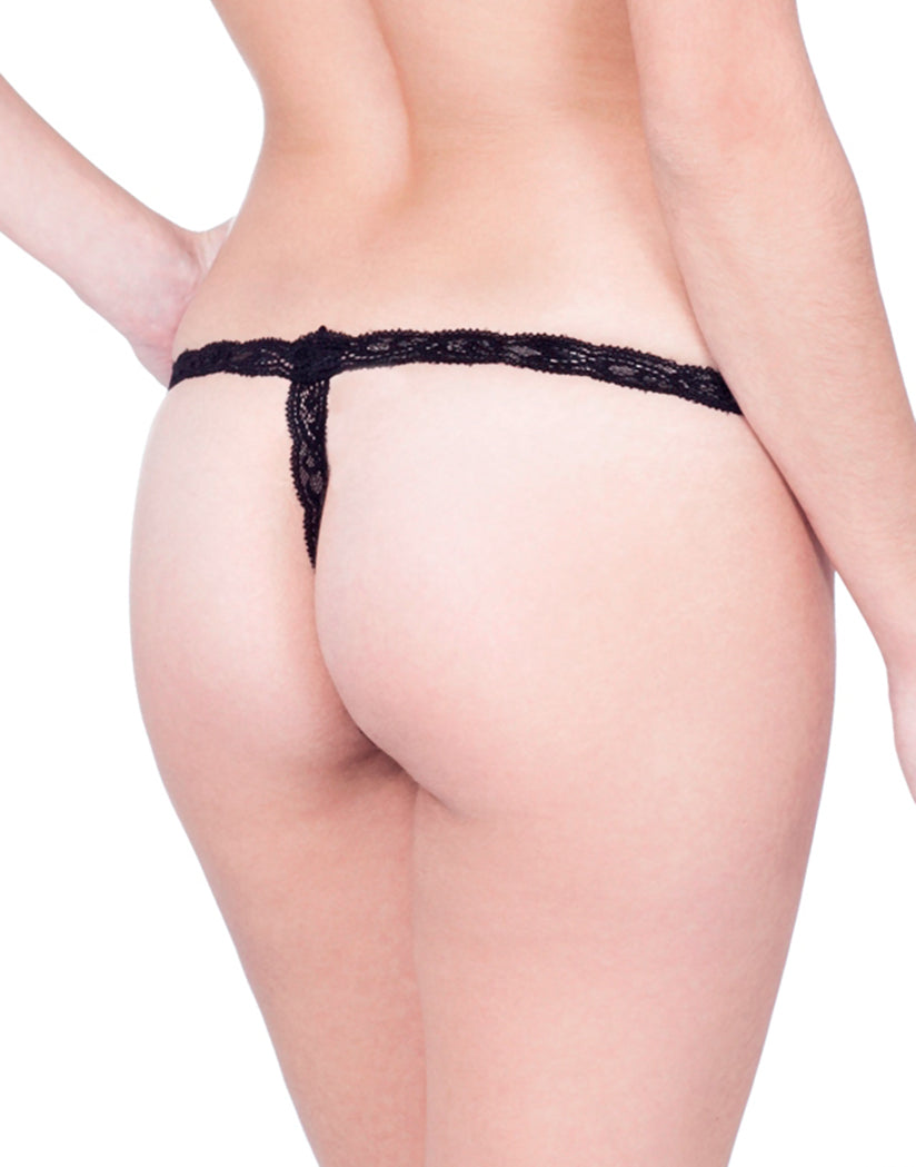 Black Back Natori Feathers Thong