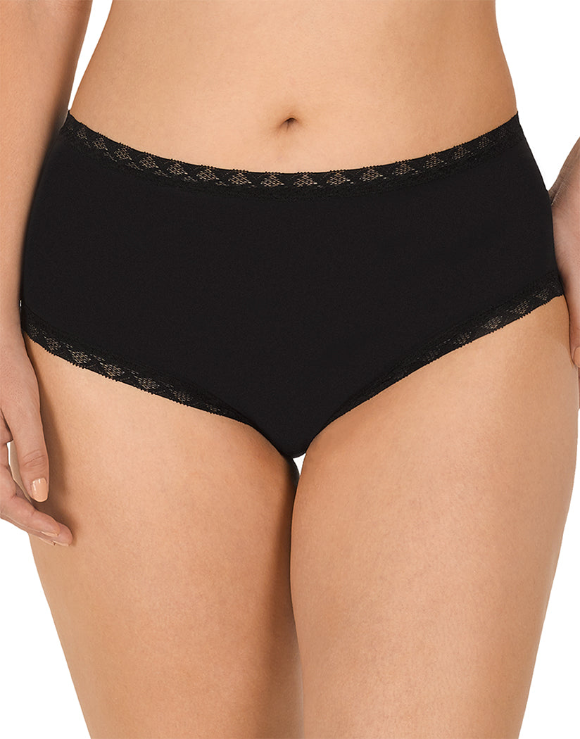 Black Front Natori Bliss Full Brief Panty 755058