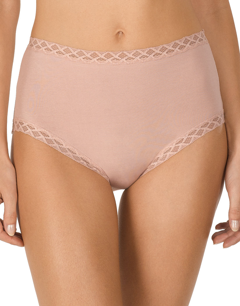 Rose Beige Front Natori Bliss Full Brief Panty 755058