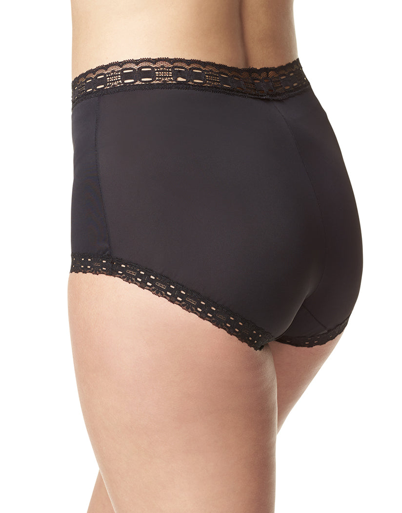French Toast/Black/Butterscotch Woven Texture Print Back Olga Secret Hugs Brief 3-Pack 873J3