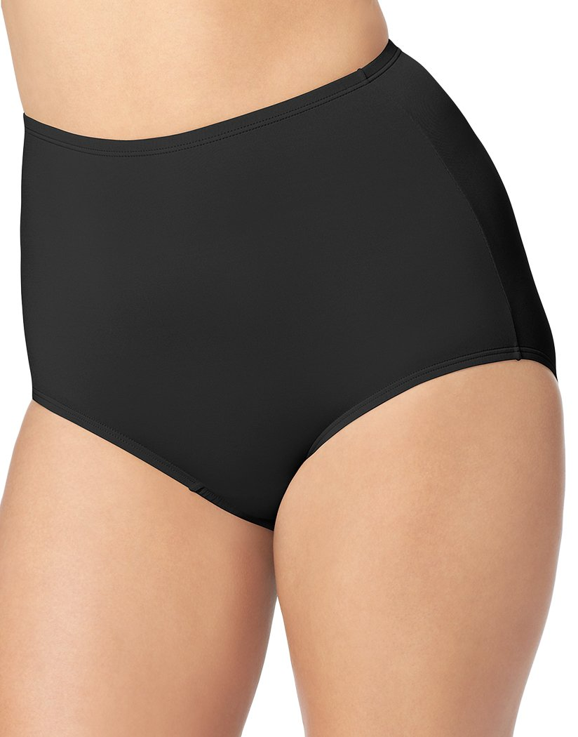 Black/Toasted Almond/Black Front Olga 3-Pack Without A Stitch Microfiber Brief 23173J