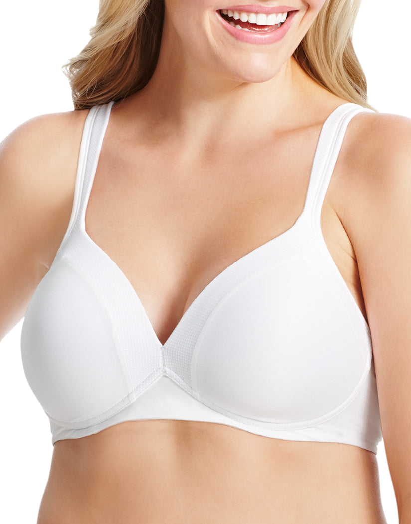 White Front Olga Play it Cool Wirefree Contour Bra GM2281A